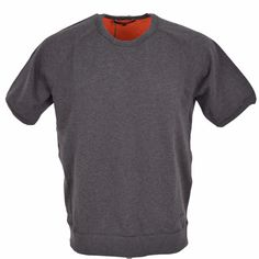 New Gucci 354237 Men's Grey Cotton Blend Short Sleeved Sweatshirt Top XXXL 3XL