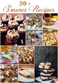 50+ S'mores recipes featured at Roxanashomebaking.com