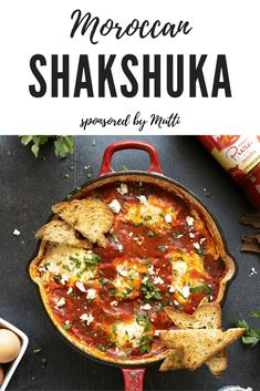 My grandmother always used leftover tomato sauce from last night's tagine to make us Moroccan shakshuka for breakfast but today I'm using Mutti Tomato Puree to recreate her recipe. #sponsored #shakshuka #moroccanshakshuka #moroccanfood Gluten Free Recipes For Dinner, Brunch Recipes, Brunch Ideas, Breakfast Ideas, Chowder Recipes, Chili Recipes, Yummy Recipes, Sin Gluten, Moroccan Breakfast