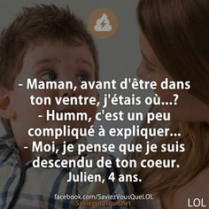 Tout a fait ce que mon fils aurai pu me dire Positive And Negative, Positive Attitude, Bff Quotes, Love Quotes, Bad Mood, Word Porn, Just Love, Life Lessons, Fun Facts
