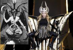 "Super Bowl Satanism... America's national past time, the Super Bowl, is the biggest TV event of the year and routinely viewed by more than 100 million people. Decked out like some pagan priestess with a totemic headdress, the he-woman who calls herself ""Madonna"" looked like a bat from Hell. Then a guest singer in Madonna's pagan extravaganza, who calls her M.I.A., gave America the middle-finger F-you salute. And millions of Americans just lapped it up… Two hours after I published this post…"