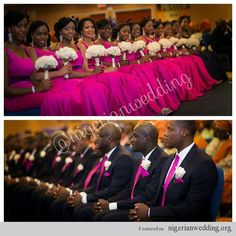 Nigerian Wedding: How To Combine Colors For Your Bridesmaids & Groomsmen