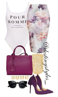 """Untitled #130"" by iamdestinnny on Polyvore featuring Aurélie Bidermann, Fendi, Aleksander Siradekian and Luv Aj"