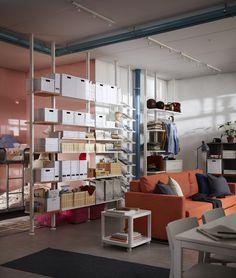 ELVARLI opbergcombinatie | IKEAcatalogus nieuw 2018 IKEA IKEAnl IKEAnederland opberger opbergen SKUBBARE mand inspiratie wooninspiratie interieur wooninterieur TJENA doos stellingkast garderobekast opbergmeubel wit kledingkast