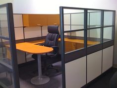 EMERALD EXECUTIVE Office CUBICLE  High Panel System   Laminate: Amber