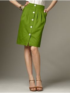 green button up skirt. Love it! Love. It.