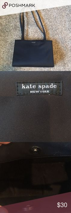 Kate Spade Hand Bag This bag had maybe been used twice, I'm not a handbag person. But for anyone who loves Kate Spade than this opportunity is yours. Bottom back corner is rubbed a little bit not sure what happened, it's just been stored in my closet but it does not affect bag and you can't tell because it would be against your body and it's small. kate spade Bags Shoulder Bags