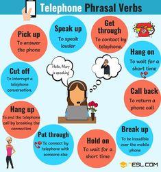 Useful Telephone Phrasal Verbs in English