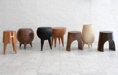 Diy Furniture Plans Wood Projects - New ideas Diy Furniture Plans, Handmade Furniture, Wooden Furniture, Furniture Design, Ceramic Stool, Wood Stool, Bar Stool, Wood Stumps, Furniture Inspiration