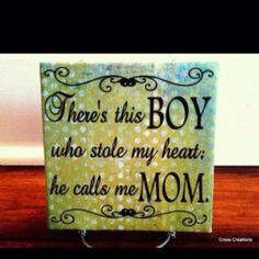 Mothers love for her son...