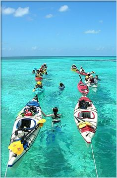 We provide complimentary use of kayaks to resort guests