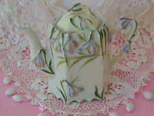 Antigo R S Prussia Orquídeas Art Nouveau Demi Bule / coberto Desnatadeira Perfeito
