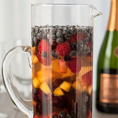 Fruity Sparkling Summer Sangria #foodgawker