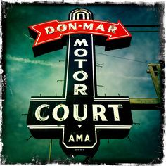 The still-standing Don Mar Motor Court's vintage neon sign is a ...