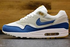 Nike Air Max 1-Summit White-Shaded Blue–Sandtrap (Zdjecia)