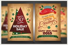 A collection of Christmas Party Flyer Templates. Feel free to browse through these Christmas flyers psd templates for your upcoming Christmas party. Print Templates, Psd Templates, Flyer Template, Christmas Flyer, Christmas Poster, Xmas, Happy New Year 2015, How To Use Photoshop, Envato Elements