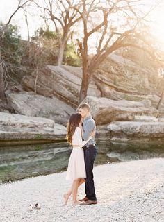 Emilie and Brandon's Creekside Engagement Session