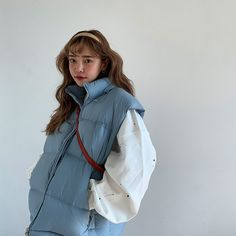 Streetwear Jackets, Streetwear Fashion, Look Fashion, Korean Fashion, Puffer Vest Outfit, Outfits Otoño, What To Wear Today, Current Fashion Trends, Outfit Goals