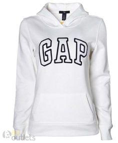 moletom Gap feminino branco com preto