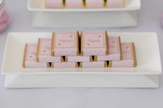 Pink and Gold Butterfly Baby Shower treats