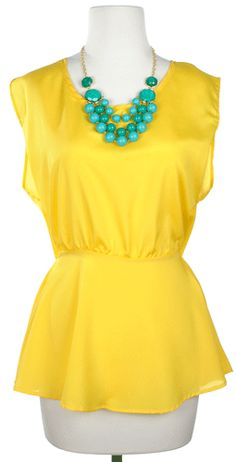Ray of Light Top in Yellow - $32.50