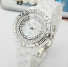 Ceramic ladies watches new Melissa quicksand crystal watches for women elegant fashion womens waterproof diamonds luxury watches
