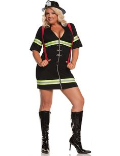 be a cute firefighter this halloween in our ms blazin hot plus costume - Cheap Plus Size Halloween Costumes 4x