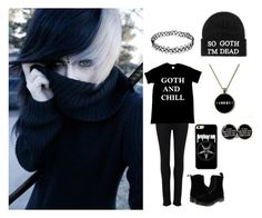 """Goth and Chill"" by black-veil-queen ❤ liked on Polyvore featuring Paige Denim, Dr. Martens, men's fashion y menswear"