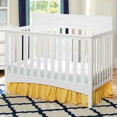 """Delta Children Bennington Lifestyle Flat 4-in-1 Convertible Crib - White Ambiance - Delta - Babies """"R"""" Us"""