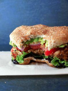 Quinoa & White Bean Veggie Burgers...Eat like you mean it! (Sub peas for corn)