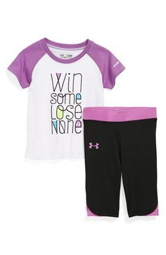 Under Armour HeatGear® Tee & Pants (Baby Girls) available at #Nordstrom