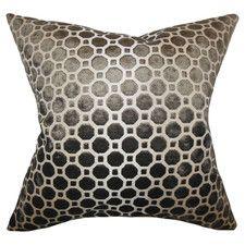 Kostya Geometric Velvet Throw Pillow