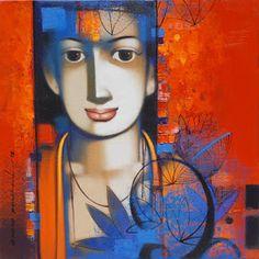 Krishna Painting, Indian Paintings, Art Education, Portraits, Amor, Artists, Art Education Resources, Head Shots, Portrait Photography