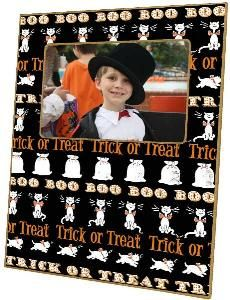 Halloween Trick or Treat Decoupage Picture Frame. Product in photo is from www.wellappointedhouse.com