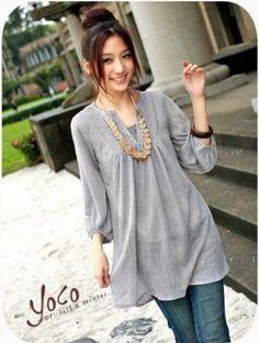 cute casual grey shirt