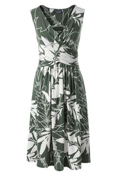 Sleeveless Fit and Flare Dress - Lands' End