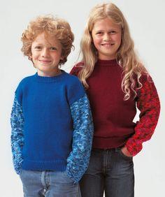 Sportlicher Kinderpullover #stricken #Lisa #LisaColor #RedHeart