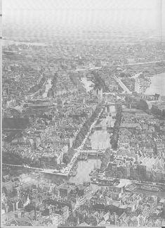 Luchtfoto Rotterdam 1929 met rechts het begin van de Maasbruggen