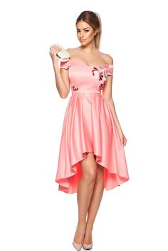 Rochie StarShinerS Brodata Mystic Line Paradise Feel Rosa Dress For You, Dress Up, Embroidery Dress, Satin Dresses, Silk Satin, Daily Wear, Mystic, Your Style, Detail