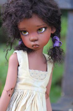 by Kaye Wiggs Black Love Art, Black Girl Art, My Black Is Beautiful, Art Girl, Blythe Dolls, Barbie Dolls, Dolls Dolls, African American Dolls, African Dolls