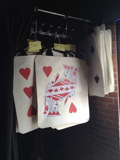Cards in the wings for Alice in Wonderland