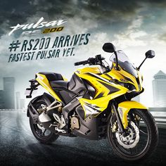 Eyeing leadership in the Super Sports segment, Bajaj Auto today launched the Pulsar RS 200 bike, priced at Rs and Rs for the non ABS and ABS versions respectively, ex-showroom Maharashtra. Bajaj Auto, Pulsar 220 Modified, Pulsar Rs 200, Studio Background Images, Bike Photo, Super Bikes, Super Sport, Custom Motorcycles, My Ride