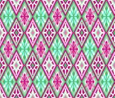 Hellacious Harlequin fabric by elramsay on Spoonflower - custom fabric