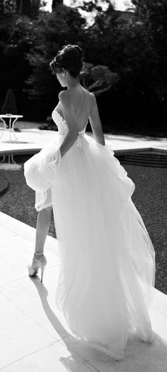 Sexy meets sophisticated in this beautiful wedding gown.