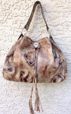 b5261c3e170d Raviani Western Brand Distressed Leather (Branding Iron) Handbag Purse  Swarovski  Raviani  ShoulderBag