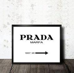 Prada Marfa print printable in A4 size sheet. Lámina imprimible. PDF descargable…