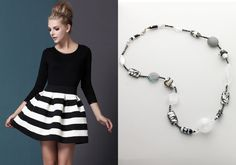 Black and white accessories for a summer in style.