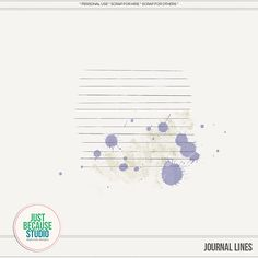 Quality DigiScrap Freebies: Journal Lines freebie from Just Because Studio