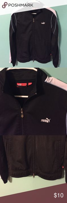 Puma track jacket sz M black Puma track jacket sz M black Puma Tops Sweatshirts & Hoodies