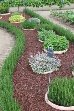 herbgarden (pots in the ground)